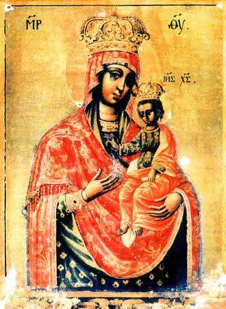 Ильинско - Черниговская икона Божьей Матери