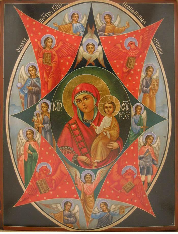 Икона Пресвятой Богородицы именуемой Неопалимая Купина