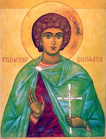 Икона святого мученика Вонифатия